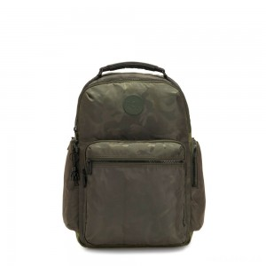 Kipling OSHO Large backpack with organsiational pockets Satin Camo