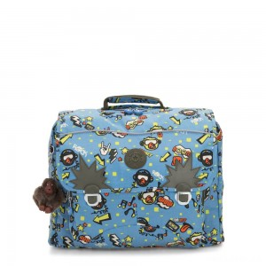 Kipling INIKO Medium Schoolbag with Padded Shoulder Straps Monkey Rock
