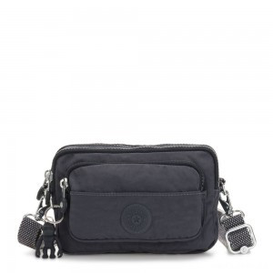 Kipling MULTIPLE Waist Bag Convertible to Shoulder Bag Night Grey