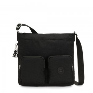 Kipling EIRENE Shoulderbag with External Front Pockets True Black Femme Strap