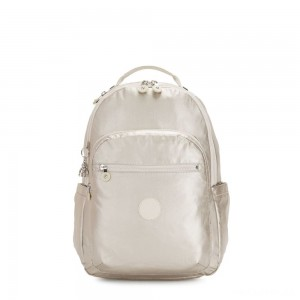 Kipling SEOUL Large Backpack with Laptop Compartment Cloud Metal