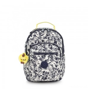 Kipling SEOUL GO S Small Backpack Scribble Fun Bl