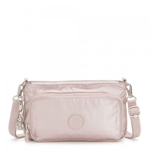 Kipling MYRTE Small 2 in 1 Crossbody and Pouch Metallic Rose