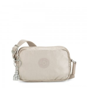Kipling SOUTA Small Crossbody with Adjustable Shoulder Strap Cloud Metal Gifting