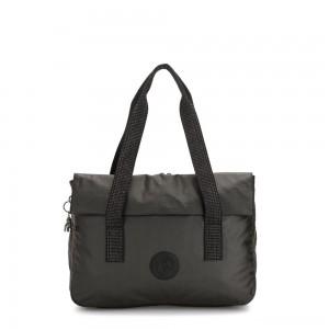 Kipling PERLANI Large Laptop Bag with Trolly Sleeve Black Metallic