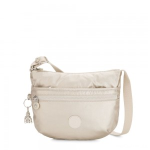 Kipling ARTO S Small Cross-Body Bag Cloud Metal