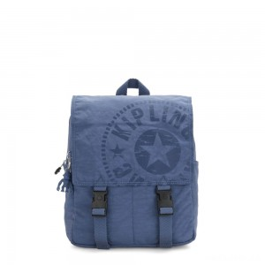 Kipling LEONIE S Small Drawstring Backpack with Push Buckle Soulfull Blue