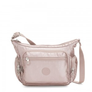 Kipling GABBIE S Crossbody Bag with Phone Compartment Metallic Rose