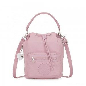 Kipling VIOLET Medium Backpack convertible to shoulderbag Faded Pink