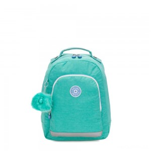 Kipling CLASS ROOM S Small backpack with laptop protection Deep Aqua C