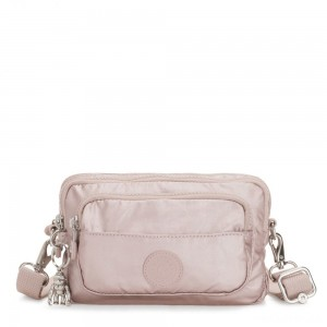 Kipling MULTIPLE Convertible waist bag Metallic Rose