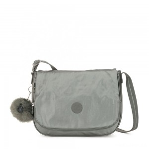 Kipling EARTHBEAT M Medium Across Body Shoulder Bag Metallic Stony