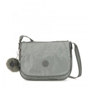 Kipling EARTHBEAT M Medium Across Body Shoulder Bag Metallic Stony