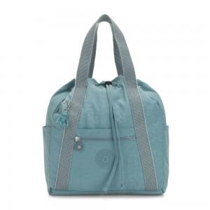 Kipling ART BACKPACK S Small Drawstring Backpack Aqua Frost
