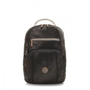 Kipling TROY Large Backpack with padded laptop compartment Delicate Black
