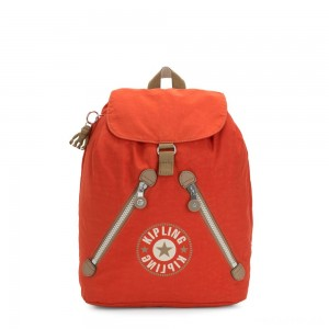 Kipling FUNDAMENTAL Medium backpack Funky Orange Block