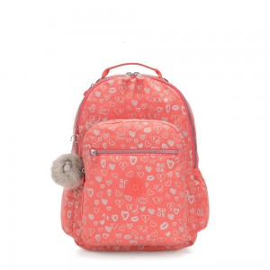 Kipling SEOUL GO Large Backpack with Laptop Protection Hearty Pink Met