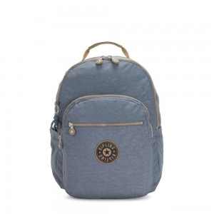 Kipling SEOUL Large backpack with Laptop Protection Stone Blue Block