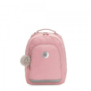 Kipling CLASS ROOM S Small backpack with laptop protection Bridal Rose