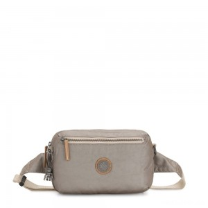 Kipling HALIMA 2-in-1 Convertible Crossbody and Bumbag Fungi Metal