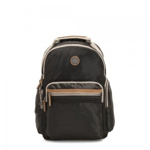 Kipling OSHO Large backpack with organsiational pockets Delicate Black
