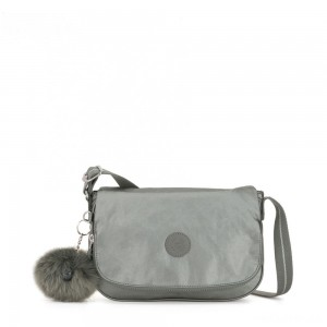 Kipling EARTHBEAT S Small Cross Body Shoulder Bag Metallic Stony