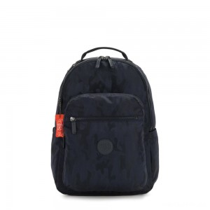 Kipling SEOUL Large backpack with Laptop Protection Blue Camo