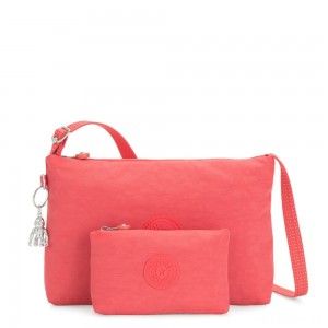 Kipling ATLEZ DUO Small Crossbody with Matching Pouch Papaya