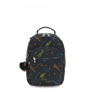Kipling SEOUL S Small backpack with tablet protection Rock On