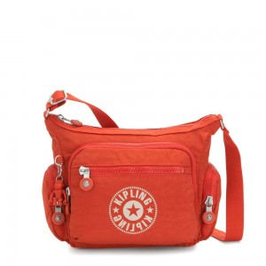 Kipling GABBIE S Crossbody Bag with Phone Compartment Funky Orange Nc