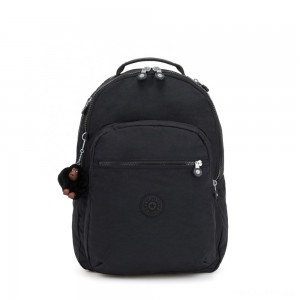Kipling CLAS SEOUL Large backpack with Laptop Protection True Black