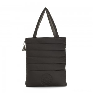 Kipling DOUBLE PUFF Large reversible Puff Tote Mountain Black