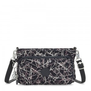 Kipling MYRTE Small 2 in 1 Crossbody and Pouch Navy Stick Print