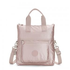 Kipling ELEVA Shoulderbag with Removable and Adjustable Strap Metallic Rose