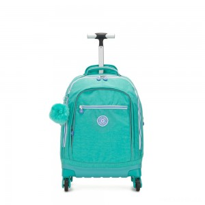 Kipling ECHO Wheeled School Bag Deep Aqua C
