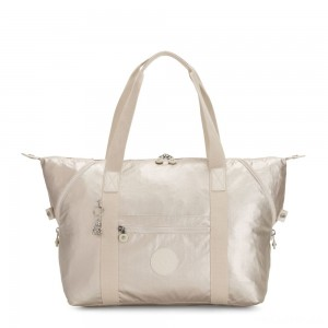 Kipling ART M Travel Tote With Trolley Sleeve Cloud Metal