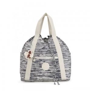 Kipling ART BACKPACK M Medium Drawstring Backpack Scribble Lines