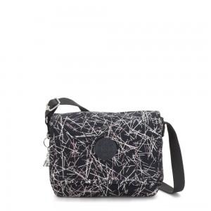 Kipling NITANY Medium Crossbody Bag Navy Stick Print