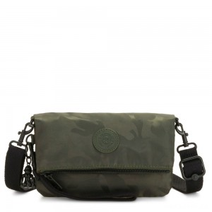 Kipling LYNNE Small Crossbody Bag with Removable Adjustable Shoulder strap Satin Camo