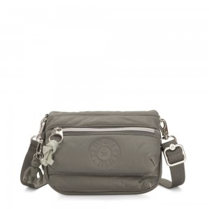 Kipling TULIA Small Puff effect 2-in-1 Crossbody/Bum Bag Mountain Grey