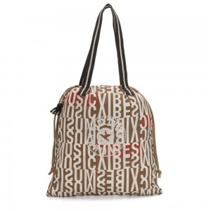 Kipling NEW HIPHURRAY Small Foldable Tote with drawstring Studio Print