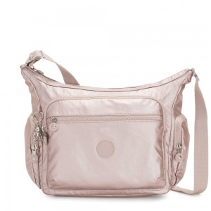 Kipling GABBIE Medium Shoulder Bag Metallic Rose