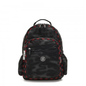 Kipling SEOUL GO LIGHT UP Large backpack with laptop protection Camo Fl light