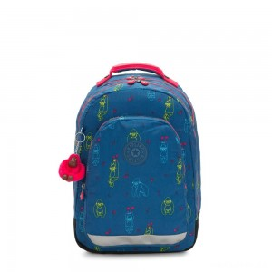 Kipling CLASS ROOM Large backpack with laptop protection Rocking Monkey