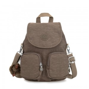 Kipling FIREFLY UP Small Backpack Covertible To Shoulder Bag True Beige