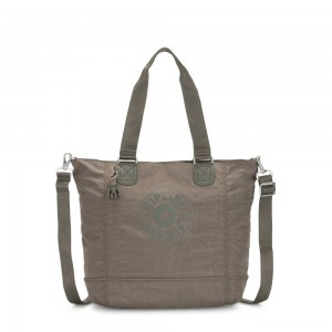 Kipling SHOPPER C Large Shoulder Bag With Removable Shoulder Strap Seagrass