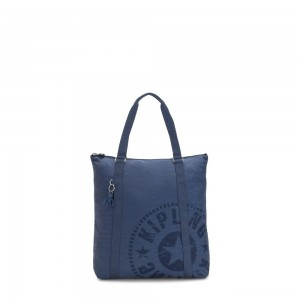 Kipling MORAL Large Tote Bag with Shoulder strap Soulfull Blue