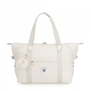Kipling ART M Travel Tote With Trolley Sleeve Dazz White