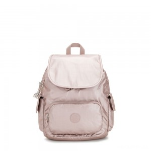 Kipling CITY PACK S Small Backpack Metallic Rose
