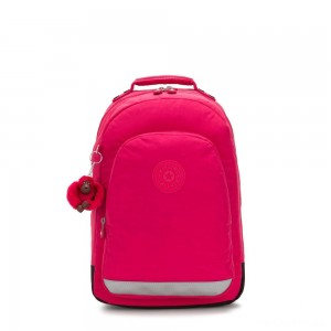 Kipling CLASS ROOM Large backpack with laptop protection True Pink